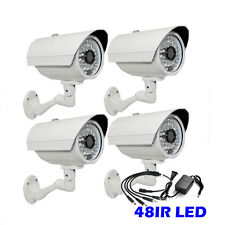 1300TVL 48IR 3.6mm Lens Outdoor IR CUT 4pc> Surveillance Security Camera Free AC
