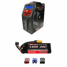 Venom 20C 3S 1300mAh 11.1V LiPo Battery and Pro Duo Charger Combo