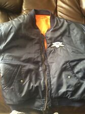"Harley Davidson Patched  ""Bomber""Jacket (XL) Nice - Navy Blue"
