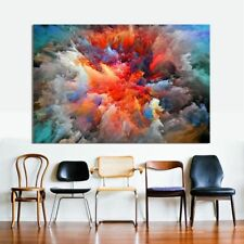 Frameless Colorful Clouds Modern Abstract Canvas Art Painting Wall Pictures New