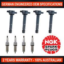 4x NGK Iridium Spark Plugs & 4x Swan Ignition Coils for Honda Accord Euro CU2