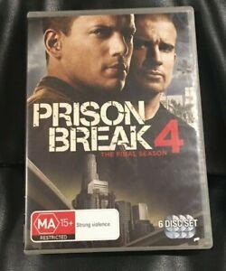 Prison Break : Season 4 (2009 : 6 Disc DVD Set) Very Good Condition Region 4