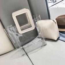 TRANSPARENT Sac à main Sac fourre-tout bandoulière Cristal Clair Plastique