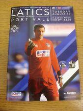 19/08/2014 Oldham Athletic v Port Vale  . Bobfrankandelvis (aka Footy Progs) sel