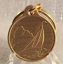Sailing Sail Boat Sailboat Bronze Key Chain Wind Adjust Sails Keychain Fob Tag