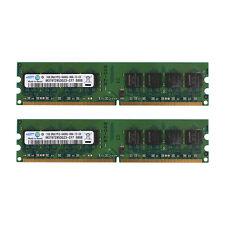 For Hynix 2GB (2x1GB) PC2-6400U DDR2 800 NON-ECC DIMM HYMP512U64BP8-S6