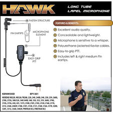 HAWK Police Lapel Microphone Earpiece for Kenwood NX TK 2-Way Radio (See List)
