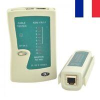 Testeur de Câble Réseau Ethernet RJ45 RJ11 Informatique Téléphonique Fil LAN