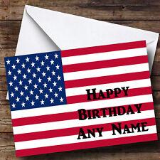 Drapeau américain USA Personnalisé Anniversaire Carte de vœux
