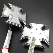LED Turn signal Maltese Cross style mirrors fit for Harly Springer bike Chromed