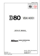 NIKON D80 SERVICE & REPAIR MANUAL