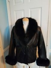 knoles&carter leather fur jacket s.