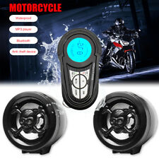 Waterproof USB Bluetooth Motorcycle Stereo Speakers MP3 Audio Radio System Sound