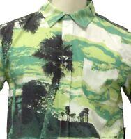Men's Button Up Shirt S M XL Hawaiian Floral Aloha Casual Short Sleeve Relax NEW