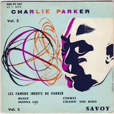 EP 45 TOURS CHARLIE PARKER BUZZY VOL 2 SAVOY 460 SV 397 TRES RARE