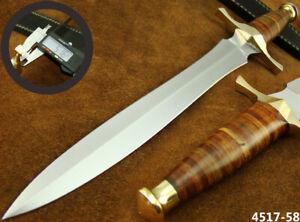 "SUPERB HANDMADE 15"" STAINLESS STEEL DAGGER HUNTING KNIFE W/SHEATH NEW (4517-58"