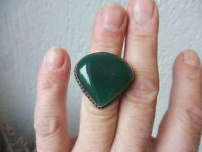 schöner ,alter Ring , 925 Silber mit großem Stein , Jade