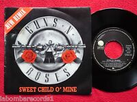 "GUNS 'N ROSES Sweet Child O' Mine A/AA 7"" 1988 Spain PROMO New Remix (EX-/EX-) 7"