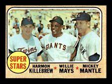 1968 Topps #490 SUPER STARS MAYS MANTLE EX-MT *e5