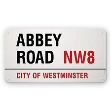 Streetname Desire 75 x 40cm estufa esmaltado Acero Suave Abbey Road CITY OF