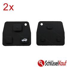 2 Stück Toyota Gummi Tastenfeld Ersatz 3 Tasten Autoschlüssel Schlüssel Lexus