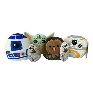 Star Wars Squishmallow Set  5 Inch The Child  Chewbacca  R2 D2  BB 8 Lot Of 4