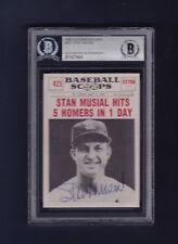 Stan Musial signed Cardinals 1961 NU Baseball Scoops card - PSA