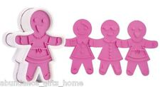 Tovolo Ginger Girls Gingerbread Christmas Cookie Cutter Set w/ 6 Unique Designs