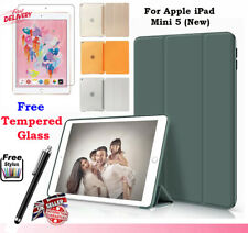 Smart Stand Magnetic Case Cover for Apple iPad Mini 5 (2019) FREE Tempered Glass