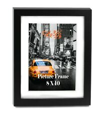 Cavepop 8x10� Black Wood Textured Picture Frame