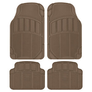 All Weather Car Floor Mats Heavy Duty, Choose Between Rubber or Carpet Style