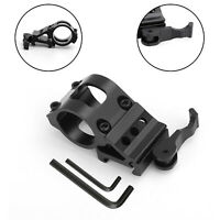 """Tactical 1"""" Offset Picatinny Weaver Rail Mount for Flashlight with Quick/Release"""