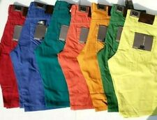 Royal Blue Denim Men's Shorts, Slim Straight Fit Retro Colors ALL SIZES AVAILABL