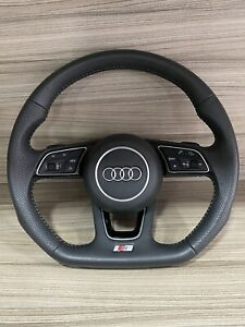 AUDI S LINE A3 A4 A5 A6 A7 A8 FLAT BOTTOM PADDLE SHIFT STEERING WHEEL & AIRBAG