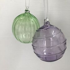 glass baubles X2