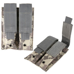 Tactical MOLLE Double Army IPSC Magazine Pouch Pistol Mag Holder for 1911