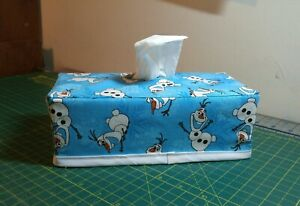 Disney Frozen Olaf Snowflakes Rectangle Tissue Box Cover Handmade