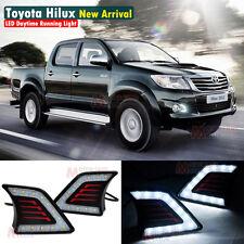 LED Daytime Running Light For Toyota Hilux Vigo Fog Lamp DRL 2011 2012 2013 2014
