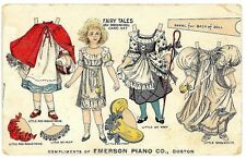 Fariy Tales New Dressing Doll No. 7 (Tuck) Promotes Emerson Piano c1905