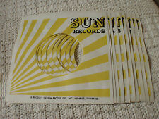 PACKAGE OF 10 SUN RECORDS SLEEVES
