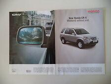 advertising Pubblicità 2002 HONDA CR-V