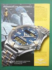 5/2000 PUB MONTRE BREITLING WATCHES CHRONOMAT F-14 TOMCAT ORIGINAL GERMAN AD