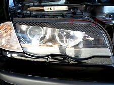 3D GLOSS REAL TWILL CARBON FIBER HEADLIGHT EYEBROWS 98-01 BMW 3-SERIE E46 SEDAN