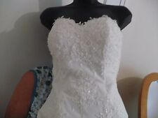 Designer Monica Bridal Boutique wedding dress, size 4,