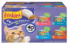 Canned Wet Cat Food Purina Friskies 40 ct. Variety Packs Smooth Pate