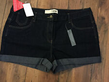 Sexy Dark Denim Shorts/Hotpants - PLUS SIZE 18 -  BNWT beach/summer