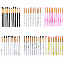 10pcs Make Up Brushes Eye Shadow Eyebrow Eyeliner Blending Makeup Brush Set UK