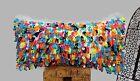 Large Cushion Wedding Blanket Handira Colorful Berber Pillow Sequins Moroccan