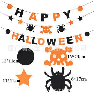 25 Pieces Halloween Party Theme Felt cloth Garland  Bunting Banners decor AU