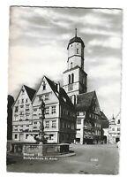 AK, Biberach, Riss, Stadtpfarrkirche St. Martin, Platz, Häuser, Brunnen